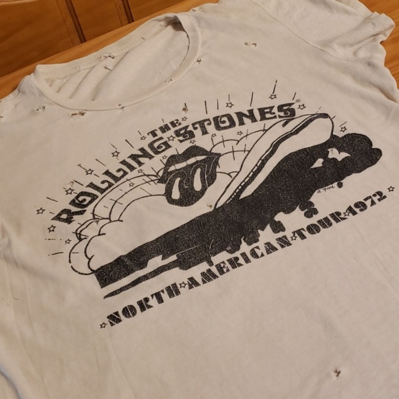 Rolling Stones North American Tour 1972 T-shirt, L